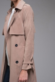 EVIDNT Beige Classic Trench - Front full body