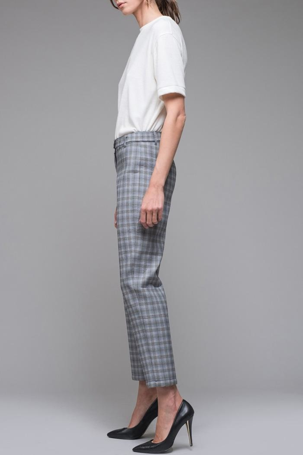 EVIDNT Blue Plaid Pant - Side Cropped Image