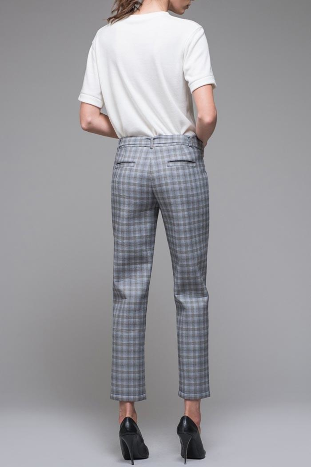 EVIDNT Blue Plaid Pant - Back Cropped Image