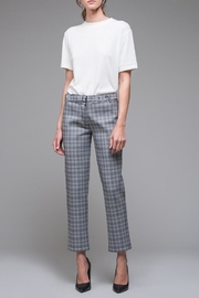 EVIDNT Blue Plaid Pant - Front cropped