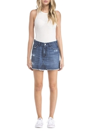 EVIDNT Destructed Denim Skirt - Product Mini Image
