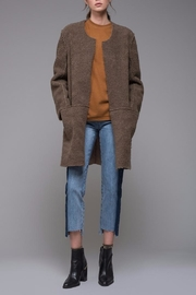 EVIDNT Reversible Shearling-Suede Coat - Front cropped