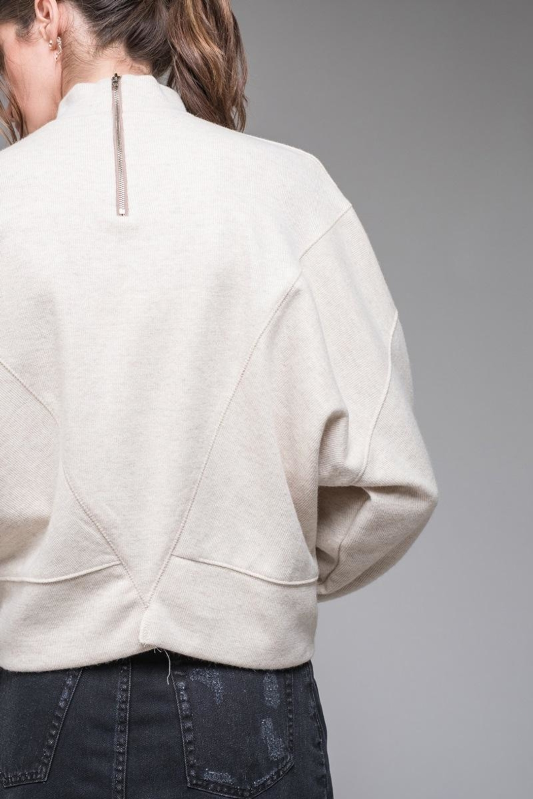 EVIDNT Stitch Detail Sweatshirt - Back Cropped Image