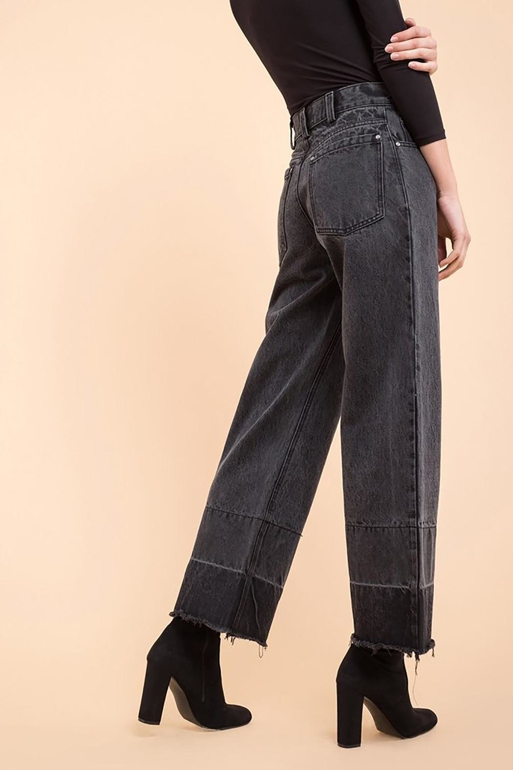 EVIDNT Two-Tone Wide-Leg Jeans - Front Full Image