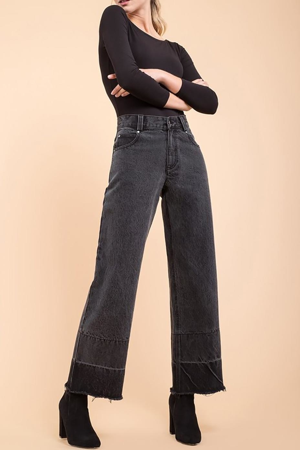 EVIDNT Two-Tone Wide-Leg Jeans - Main Image