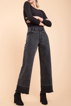 EVIDNT Two-Tone Wide-Leg Jeans - Product List Image