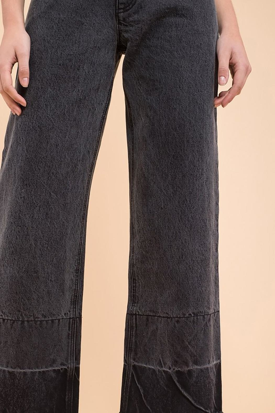 EVIDNT Two-Tone Wide-Leg Jeans - Side Cropped Image