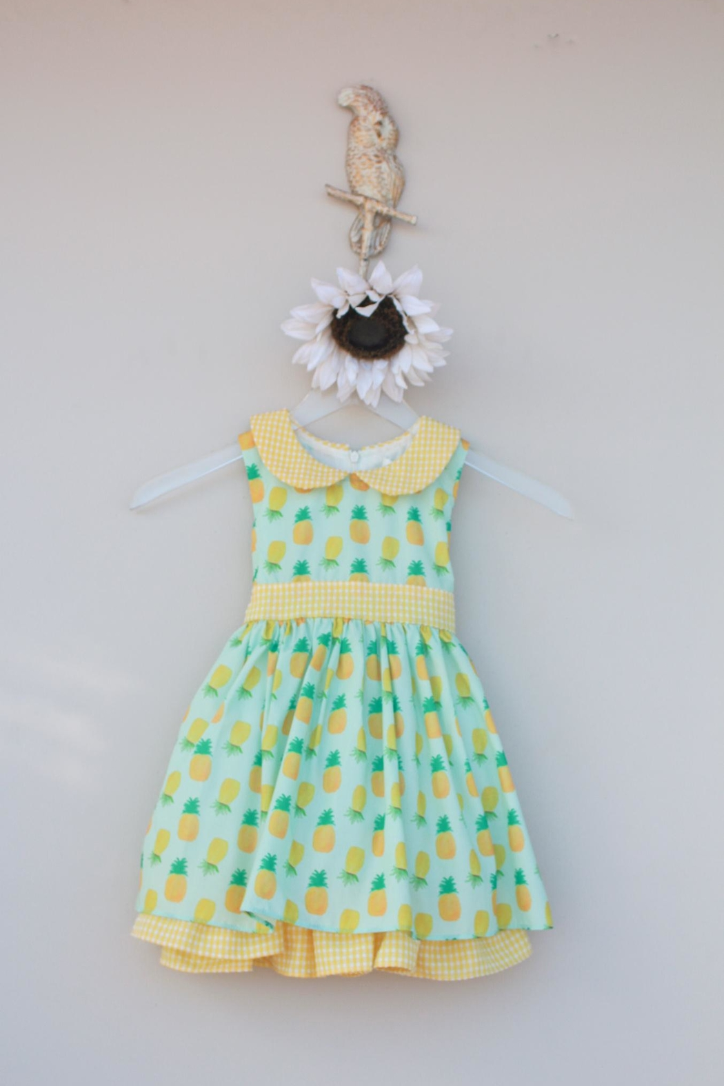 Evie's Closet Mint Pineapple Dress - Front Cropped Image