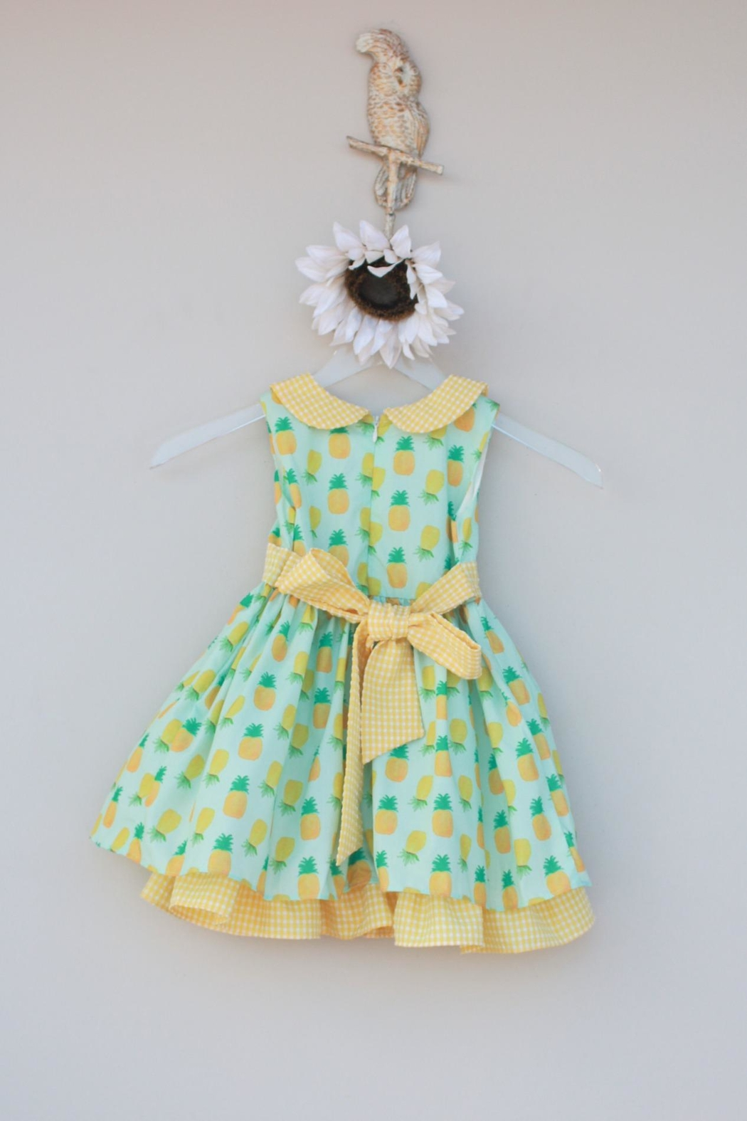 Evie's Closet Mint Pineapple Dress - Side Cropped Image