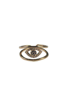 Fabulina Designs Evil Eye Adjustable Ring - Product List Image
