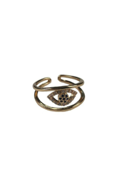 Fabulina Designs Evil Eye Adjustable Ring - Alternate List Image