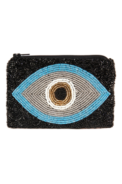 Shoptiques Product: Evil Eye Beaded Coin Purse