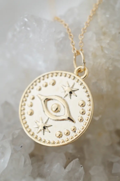 Kindred Row Evil Eye Coin Necklace - Product List Image
