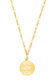 FAME ACCESORIES Evil Eye Disc Necklace - Product Mini Image