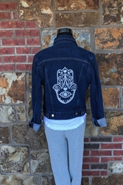 Soulstice Evil Eye Hamsa Denim Jacket - Product Mini Image
