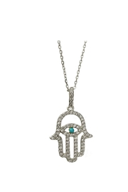 Lets Accessorize Evil-Eye Hamsa Necklace - Product Mini Image