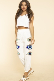 Blue Buttercup Evil eye jogger - Front cropped