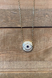 Allie & Chica Evil Eye Necklace - Front cropped