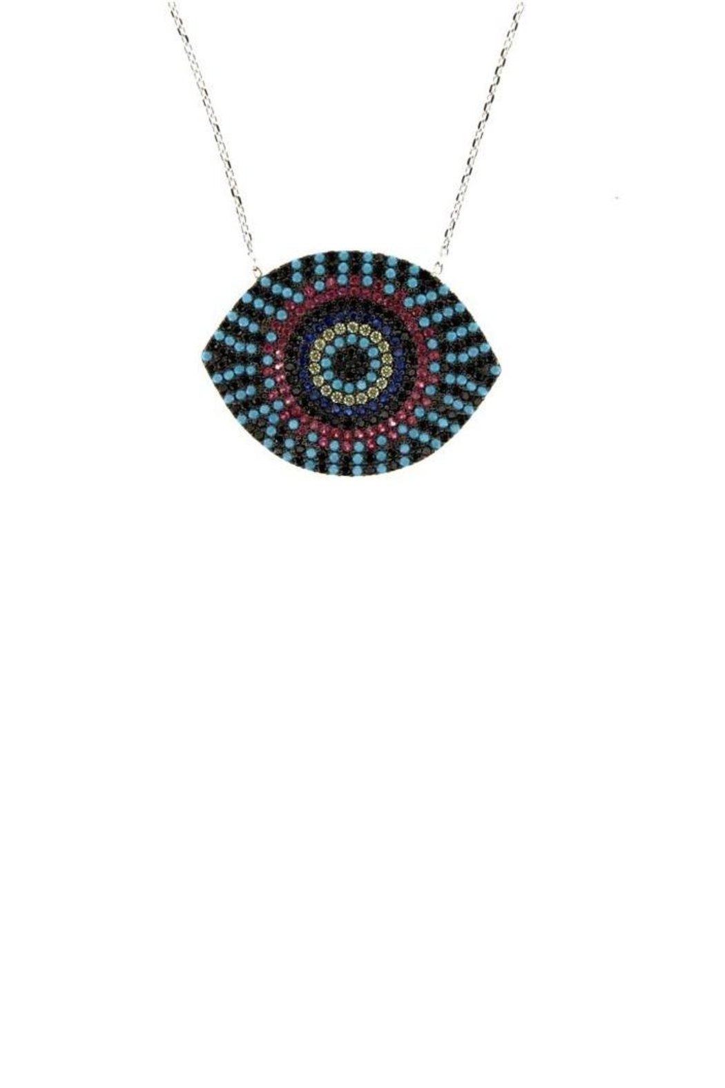Earthy Chic Evil Eye Necklace - Main Image
