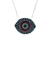 Earthy Chic Evil Eye Necklace - Front cropped
