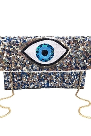 Ole Evil Eye Sequin Clutch - Front cropped
