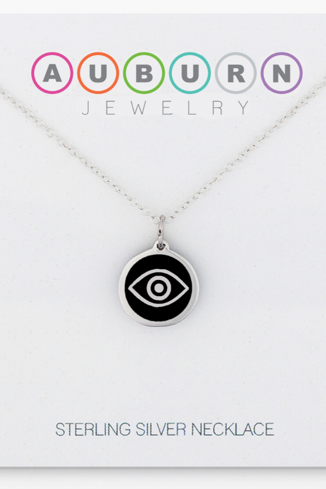 Auburn Jewelry Evil Eye Silver Pendant - Mini - Front Cropped Image
