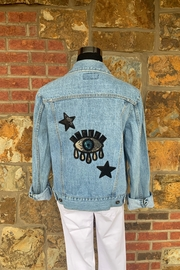 Soulstice Evil Eye & Star Denim Jacket - Product Mini Image