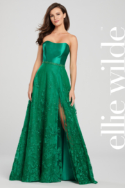 Ellie Wilde ew119007 - Strapless A-Line Gown - Front cropped