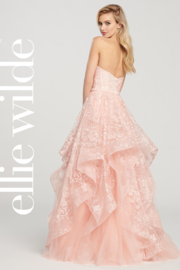 Ellie Wilde ew119033 - Strapless Layered Prom Gown - Front full body