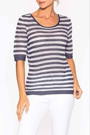 Elena Wang White Navy Stripes Knit - Product Mini Image