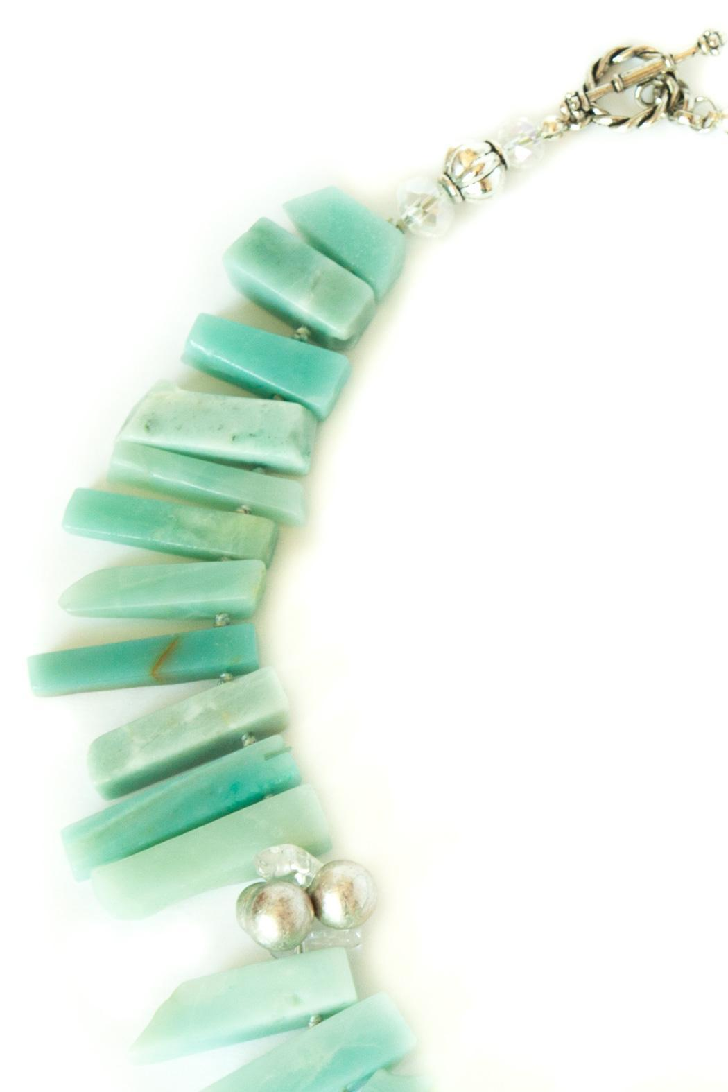 Exclusively Leslie Amazonite Necklace - Front Full Image