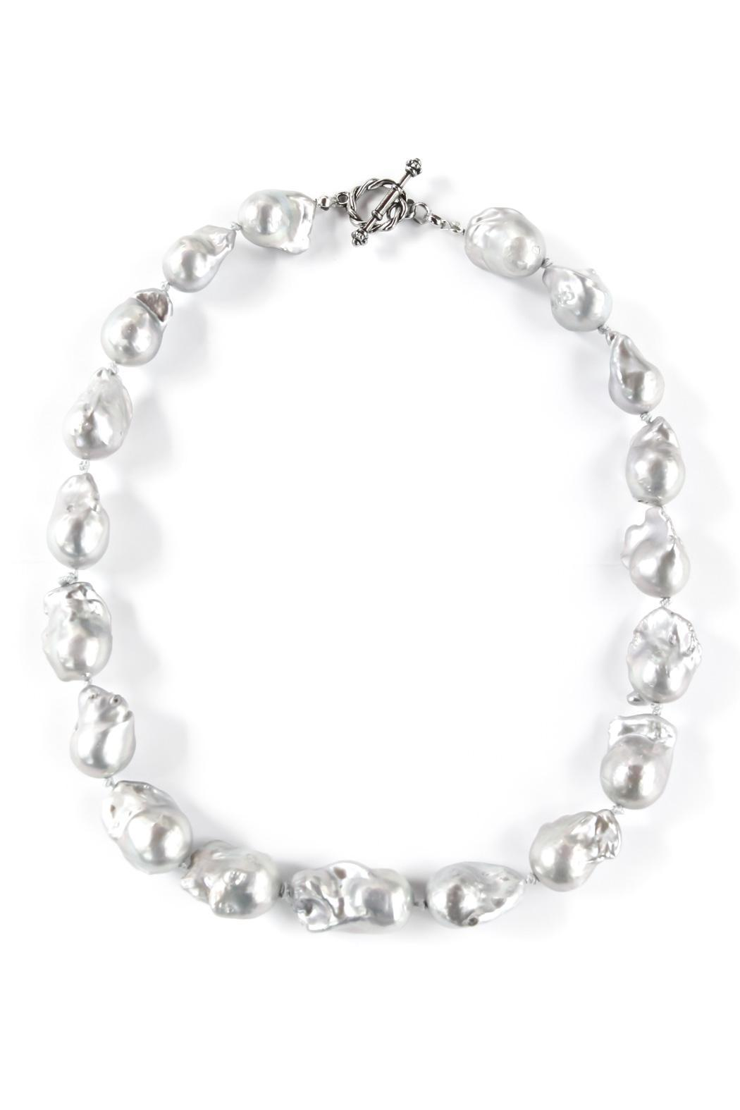 Exclusively Leslie Baroque Gray-Pearl Necklace - Main Image