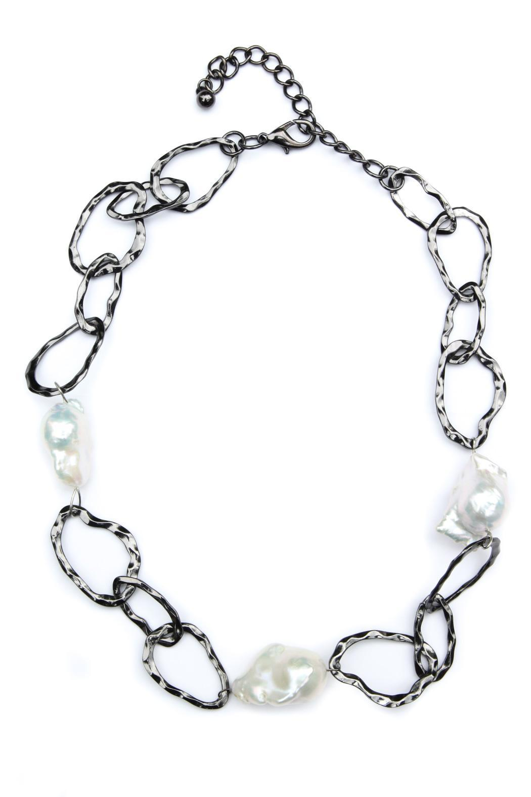 Exclusively Leslie Baroque-Pearl Link Necklace - Main Image