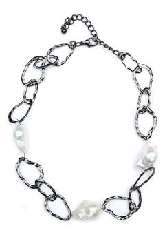 Shoptiques Product: Baroque-Pearl Link Necklace