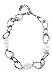 Exclusively Leslie Baroque-Pearl Link Necklace - Product Mini Image