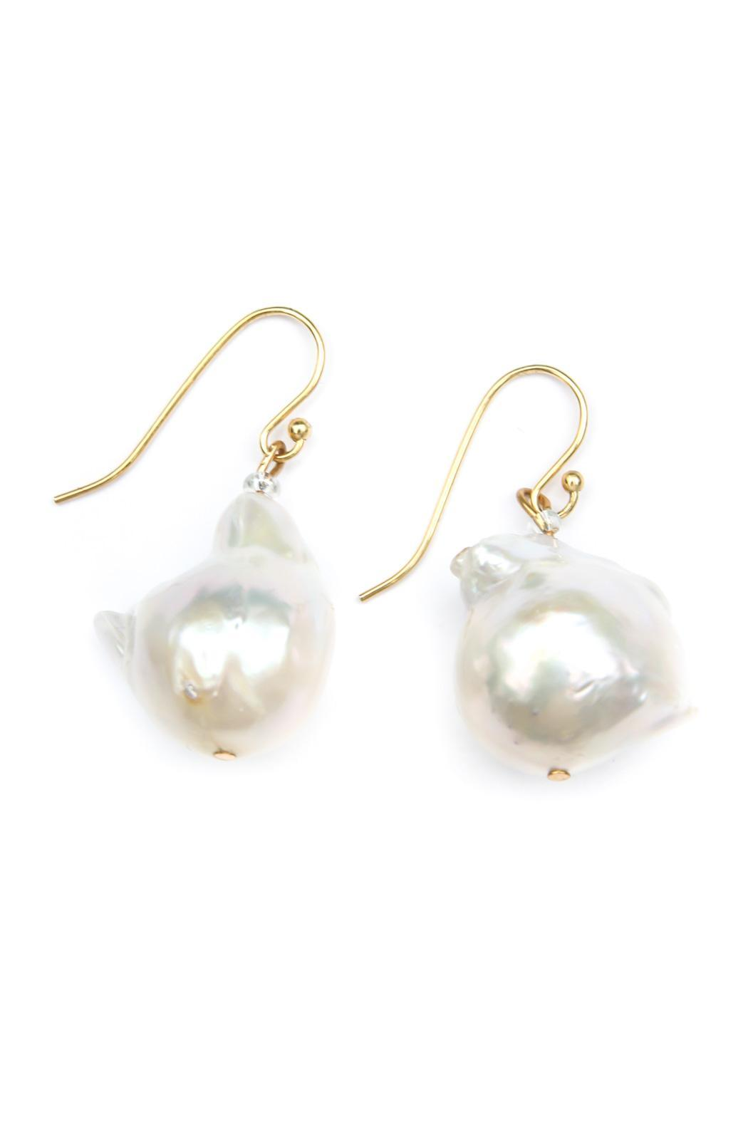 Exclusively Leslie Baroque White-Pearl Earrings - Main Image
