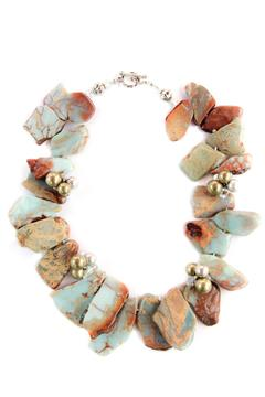 Exclusively Leslie Jaspar Geode-Slice Necklace - Alternate List Image
