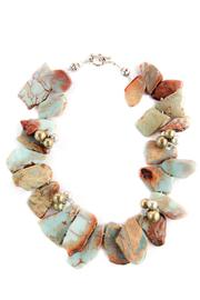 Exclusively Leslie Jaspar Geode-Slice Necklace - Product Mini Image