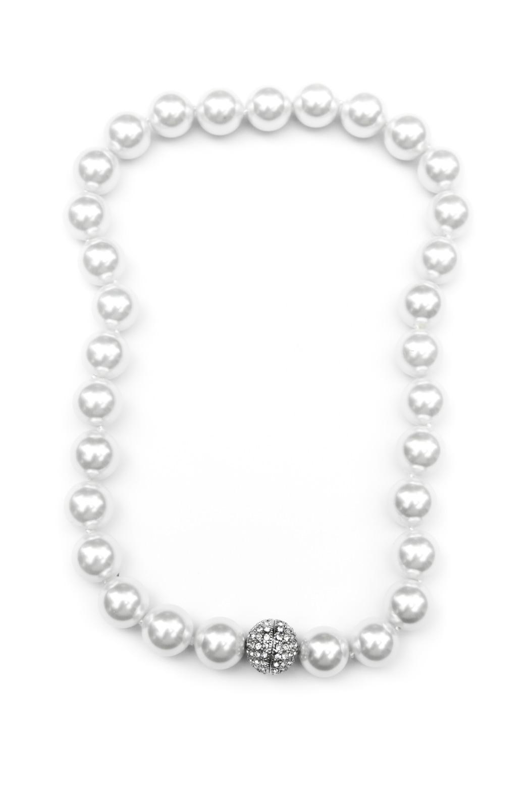 Exclusively Leslie Pearl & Pave Necklace - Main Image