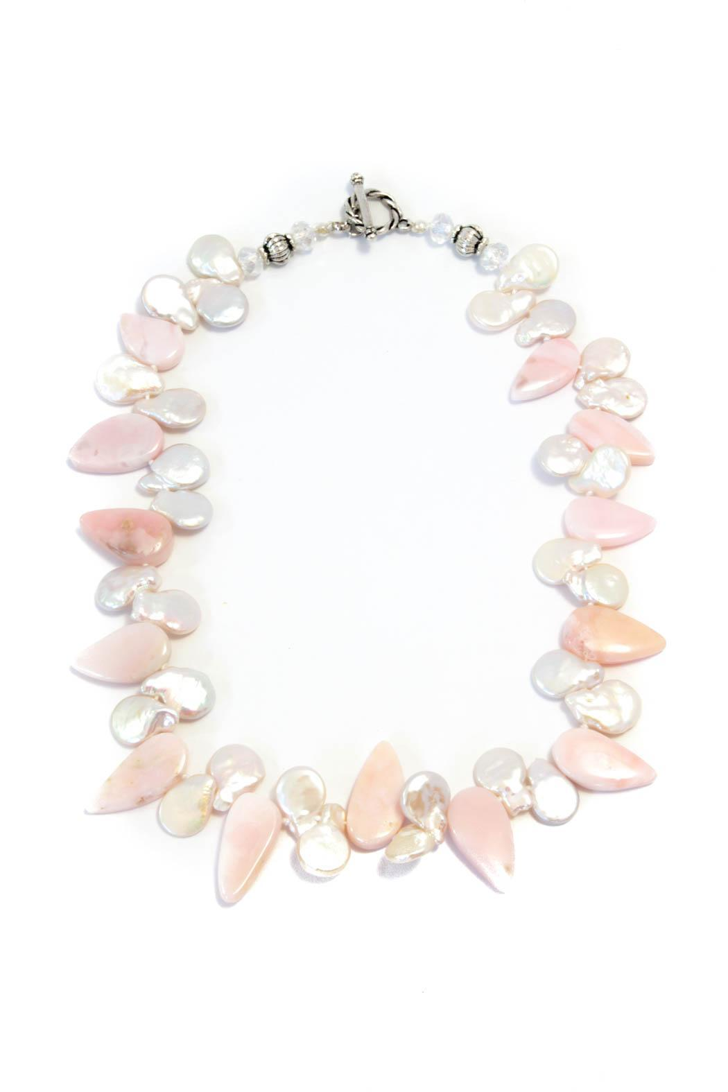 Exclusively Leslie Pink Opal Necklace - Main Image
