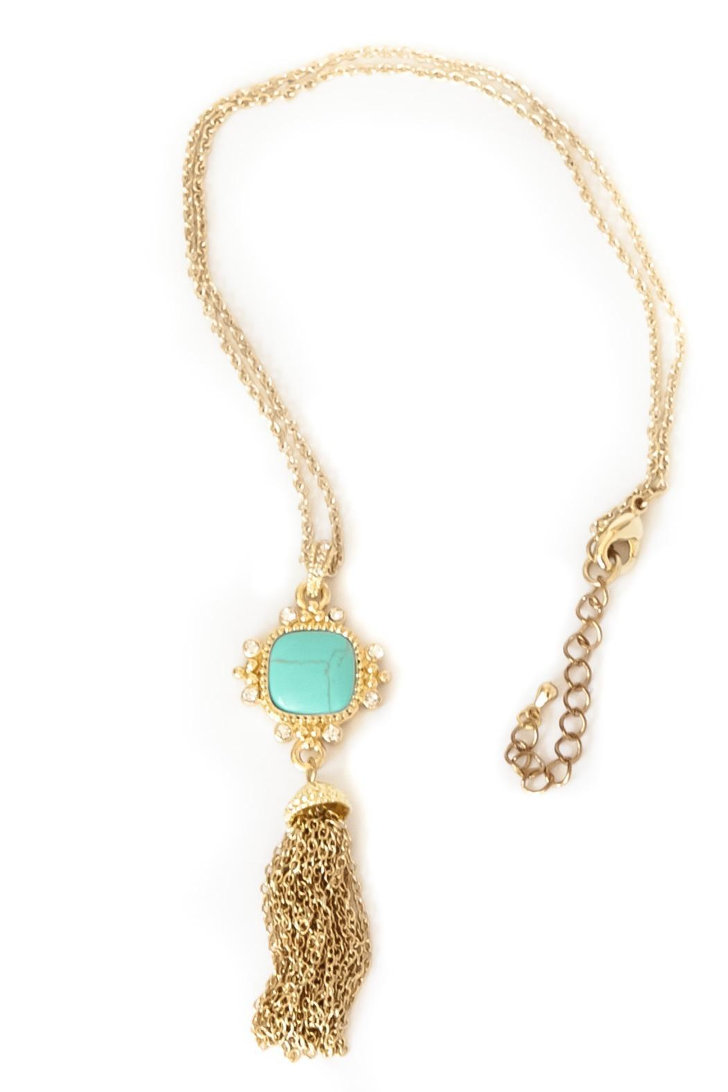 Exclusively Leslie Turquoise Tassel Necklace - Main Image