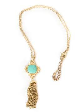 Exclusively Leslie Turquoise Tassel Necklace - Product List Image