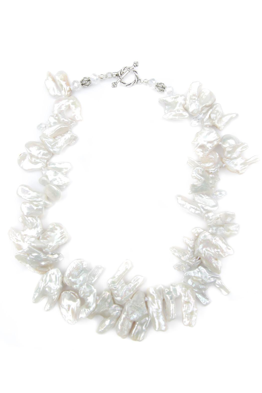 Exclusively Leslie White Keshi Pearl Necklace Front Cropped Image