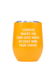 About Face Designs Exercise Insulated Wine Glass - Product Mini Image