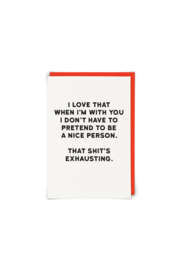 Redback Cards Exhausting greeting card - Product Mini Image