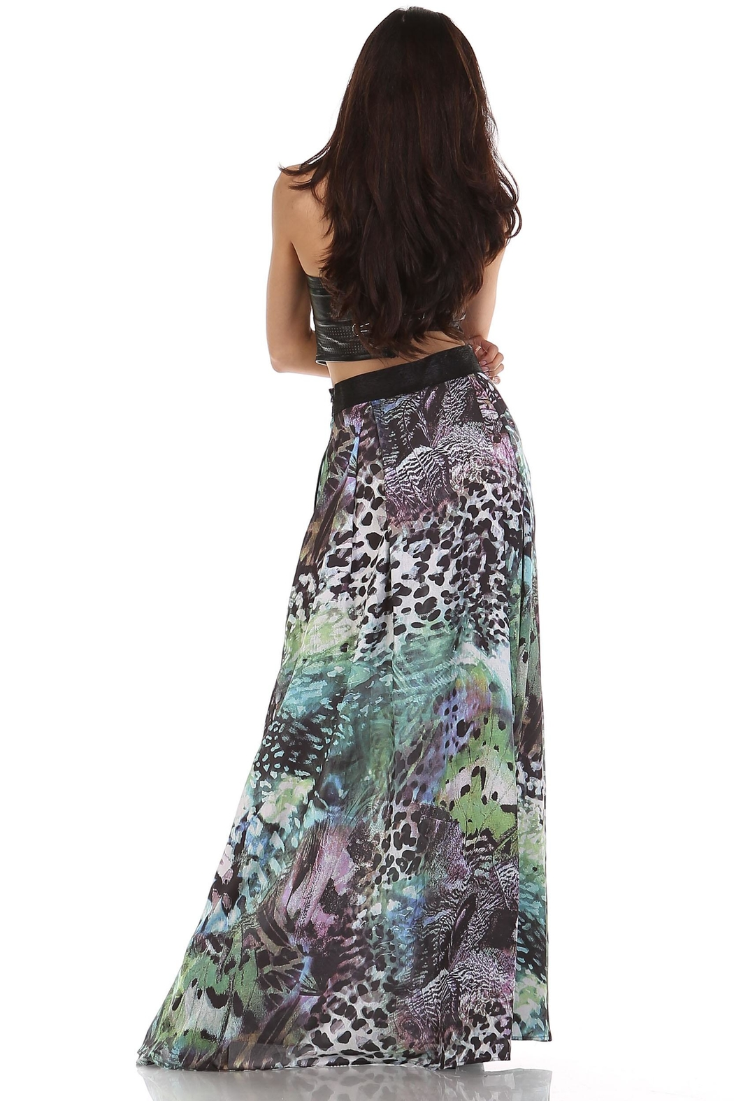 TOV Exotic Maxi Skirt - Side Cropped Image