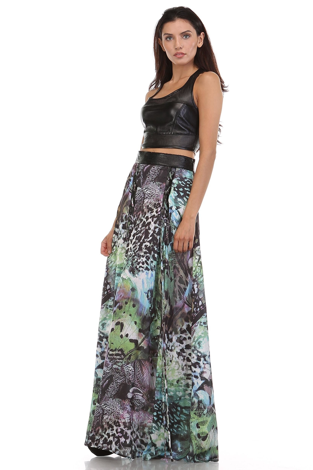 TOV Exotic Maxi Skirt - Front Full Image