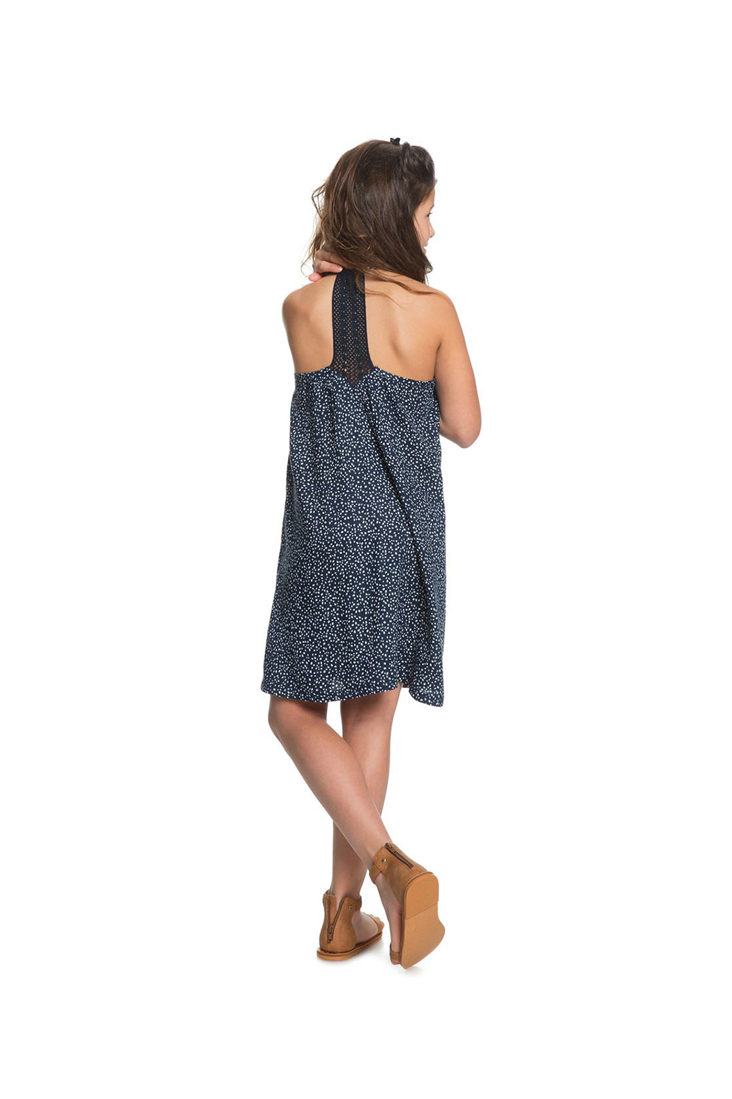 Roxy Exotic Nature Strappy Dress - Back Cropped Image