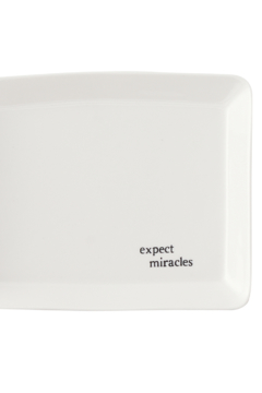 "Shoptiques Product: ""Expect Miracles"" Trinket Tray"