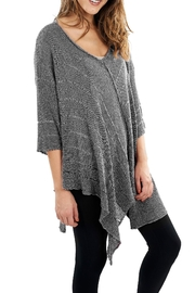 Explosion Crochet V Neck Sweater - Front cropped